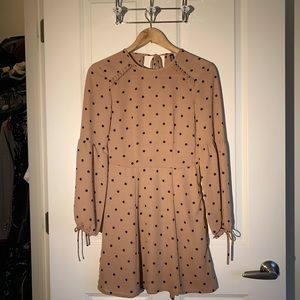 Polka-Dot Cute Beige Dress